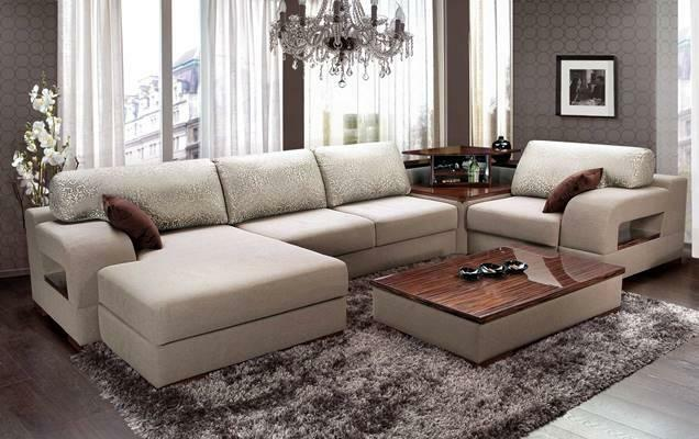 Modular sofas in the interior of the living room photo: large and inexpensive, narrow
