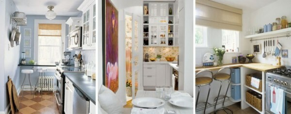 Kitchen Design 5-5 sq.m: Instructions for registration of a small room, video and photos