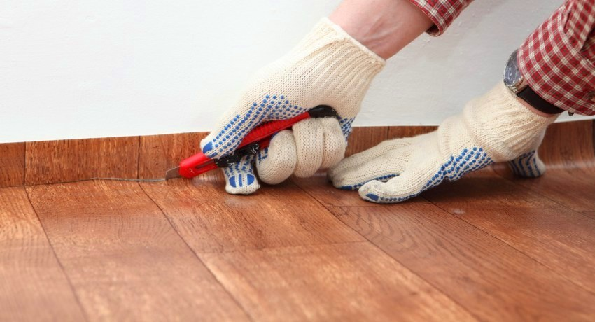 How to lay linoleum: cutting out the rules and laying flooring