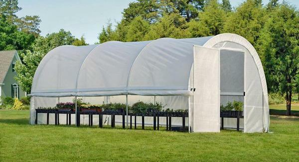 Conditionally - this is a mobile awning with a frame, which consists of a light-scattering film and metal tubes