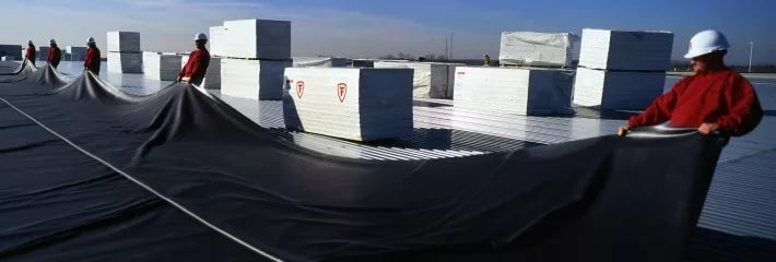 EPDM membrane - durable waterproofing material for flat roofs
