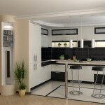 Design a small kitchen with a breakfast bar