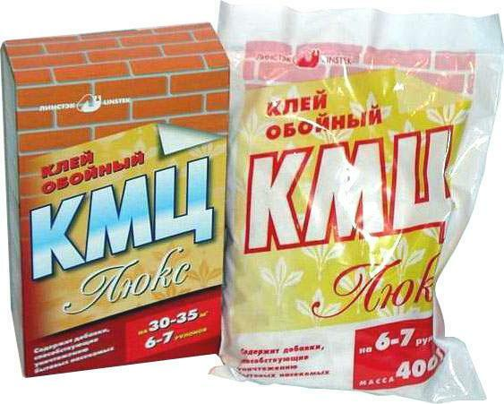 The natural adhesive for wallpaper KMZ is used for gluing only thick wallpaper