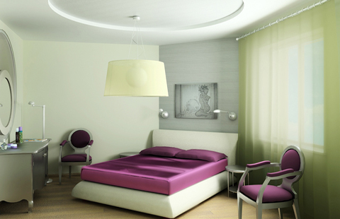 The unusual design of bedrooms