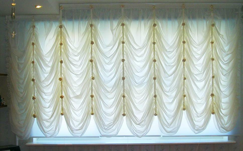 French curtains: blinds with their own hands, how to sew yourself, a master class, curtains on the kulis, braid