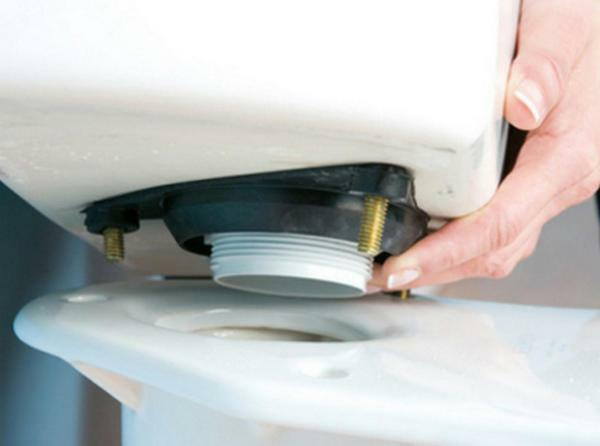 To eliminate the leak between the tank and the toilet, you need to replace the gasket