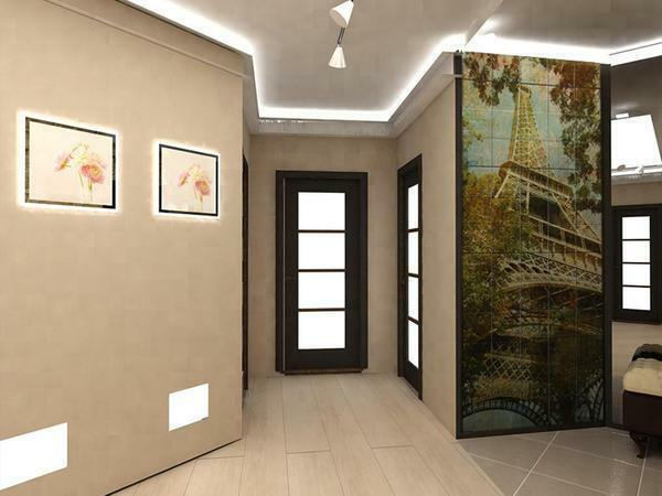 How to decorate the corridor walls: decorating the hallway and updating the old, drawings and photos than decorating the design