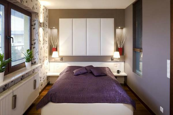 Additional finishing of the bedroom panels will decorate the interior of the room and make it more luxurious