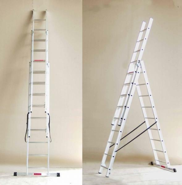 When choosing a sectional ladder, it is necessary to take into account its structure and strength of materials, of which it is made