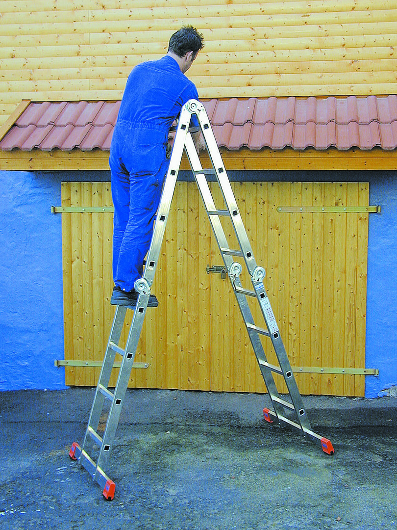 Aluminum ladder-stepladder: transformer for 7, 5 and 6stepeney, Alumet professional for 2 and 10 steps