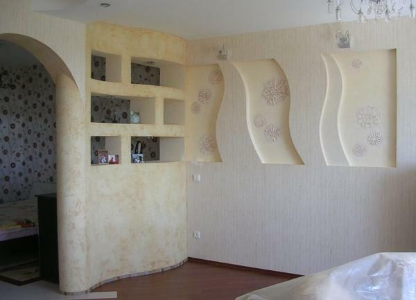 Drywall is a fairly flexible material, so it allows you to make walls or arch of any shape and size