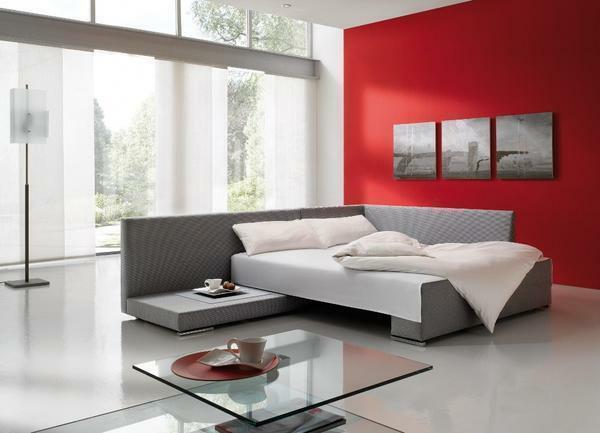 Sofa for the bedroom: modular and corner for the room, production of beds, inexpensive large sizes, instead of