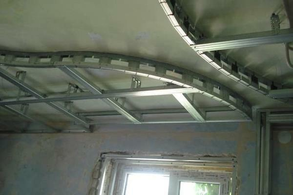 Accurate marking of the ceiling is the key to the successful installation of the frame under the plasterboard