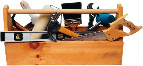 An exemplary set of tools that you may need when performing repair work