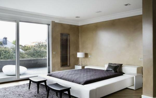 Bedroom in the Art Nouveau style: photo and interior design, suite and furniture, Italian room, light modern suite