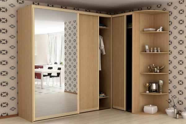 For a small guest room, a compact light-colored wardrobe