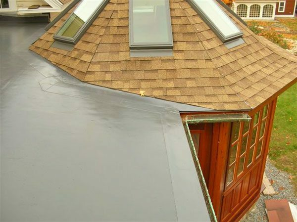 PVC membrane may serve on the flat roof over 25 years