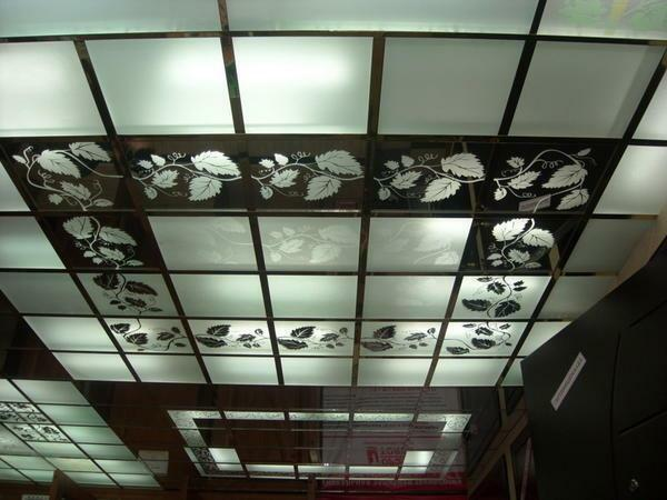 Design ceiling panels can be patterned or create a transparent effect