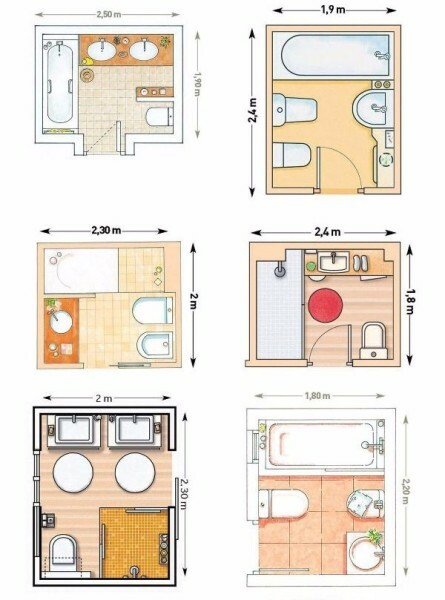 Options for small bathroom layout