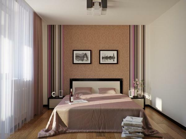 Light wallpaper is a real salvation for small and medium sized bedrooms