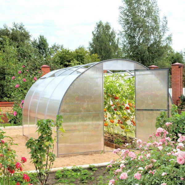 "The greenhouse with a removable roof ""Orion"", which creates favorable conditions for plants"