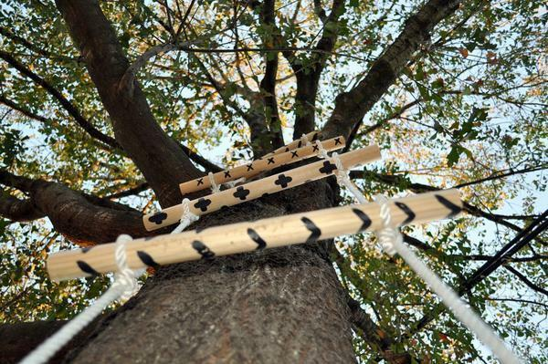 Rope ladder with their own hands: how to make a well, cable and wooden, children's how to make