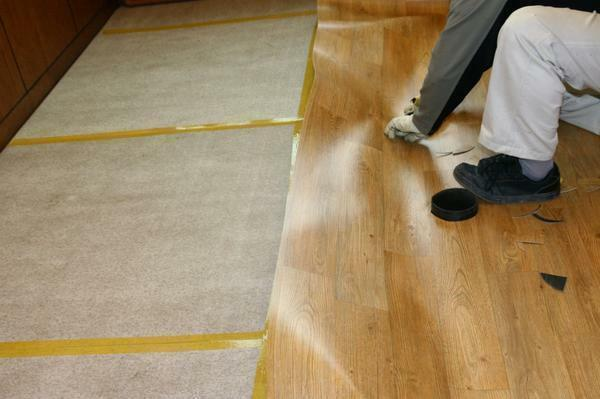 Linoleum - a thin vinyl coating, which is dominated by chemical components