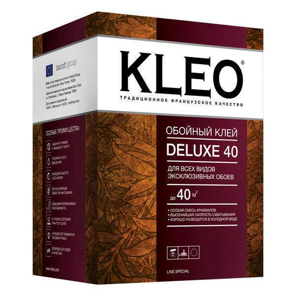 Kleo adhesive glue is ideal for gluing non-woven wallpaper