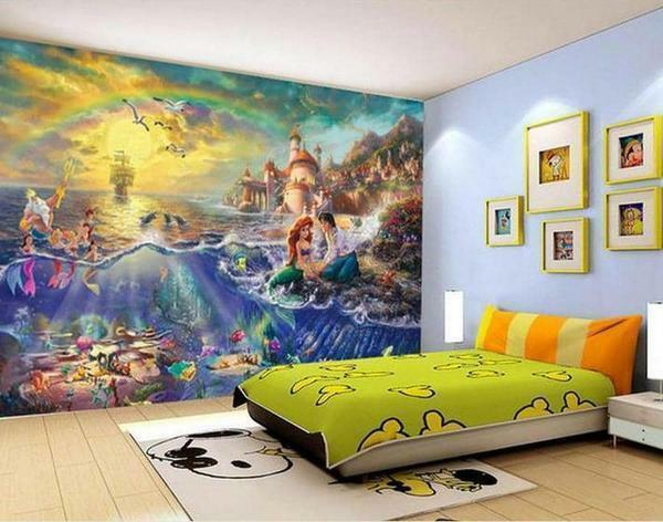 "Colorful and iridescent wallpaper ""Underwater World"" will please your child"