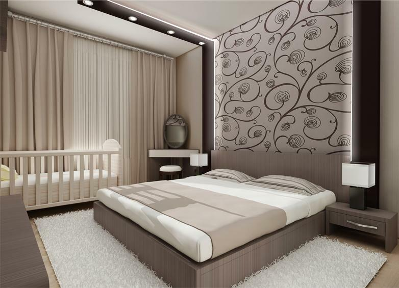 Before you go shopping for new finishing materials, you should decide on the future design of the bedroom