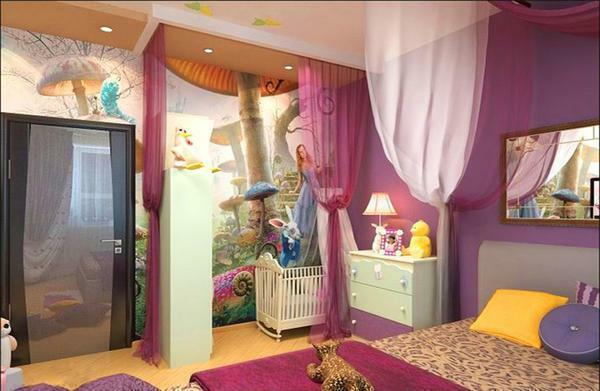 By combining the bedroom and the nursery, you will no longer worry about your child