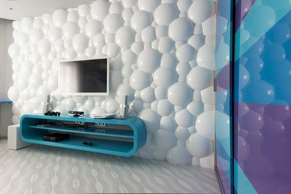Wall 3d interior allows to diversify and make room design for a unique truth