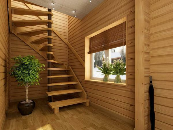 Wooden staircases: photo of necessary structures, angle, samples and features, ash array, combination