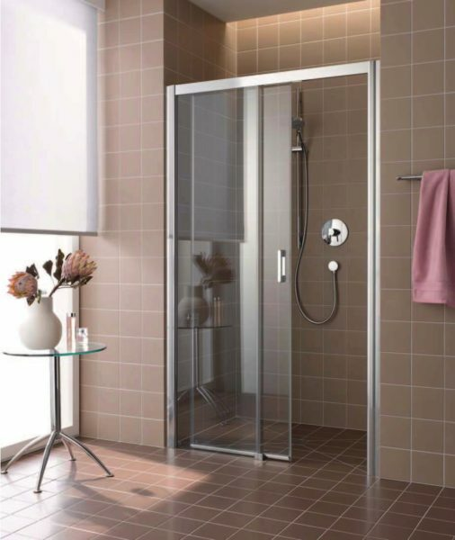 Sliding doors allow you to save space of a bathroom