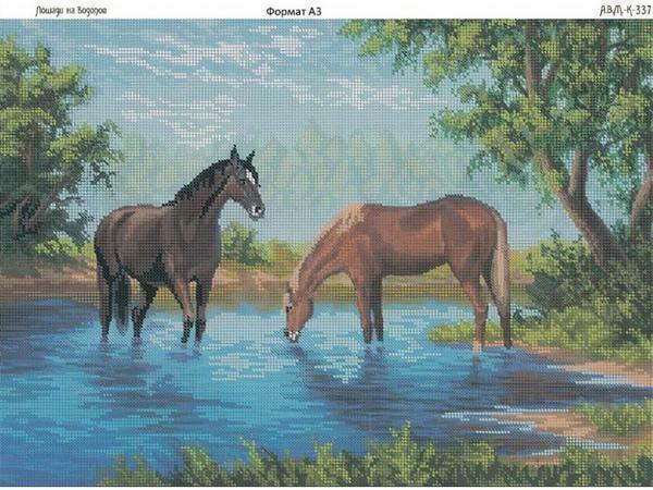 Cross-stitch embroidery designs: free kits download, May Little pony, Riolis, running horses, girl
