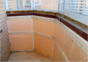 Repair of balcony Khrushchev in the kitchen and finish options in a two-room apartment