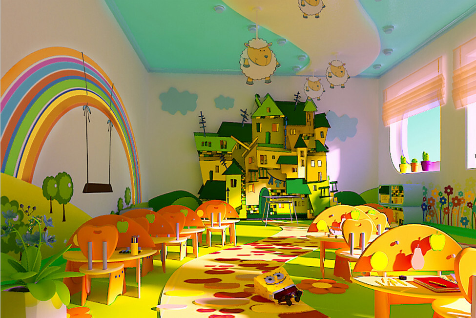 interior children's cafe
