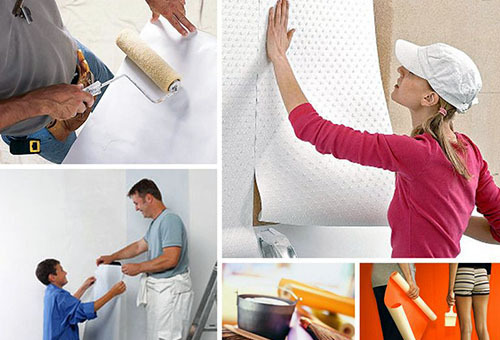 How to glue the paper wall correctly: pasting the walls with his own hands