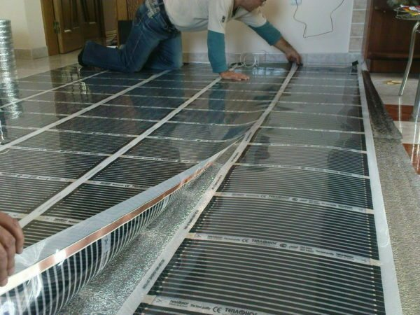 Film electrical Heated floor - a special case of the distributed heating. Each room is equipped with its own heat source.