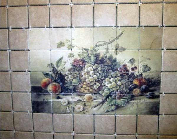 Panel of tiles: in the bathroom of porcelain tiles, photo on the walls, ceramic and tile, kitchen on the floor and apron