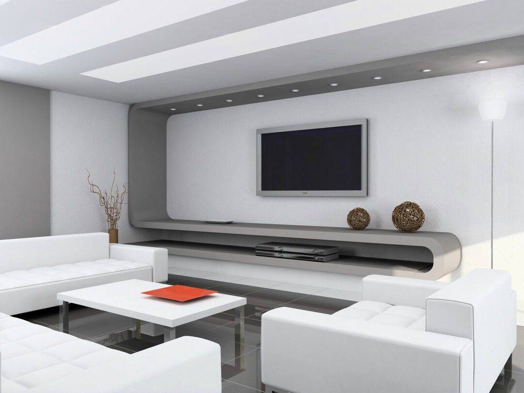 The design of a large room: the interior design in a modern style, high-tech, Country, Provence