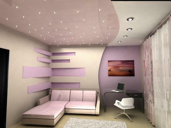 Suspended ceiling - aesthetic, reliable and relatively inexpensive option of finishing the ceiling space in the house
