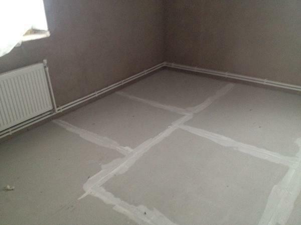 Before using gipsokartonnye sheets, you must prepare the surface of the floor and all the necessary tools in advance