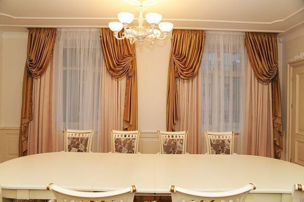 Italian curtains: photo and Italy, tulle in Italian style, pictures for living room and kitchen, floor curtain
