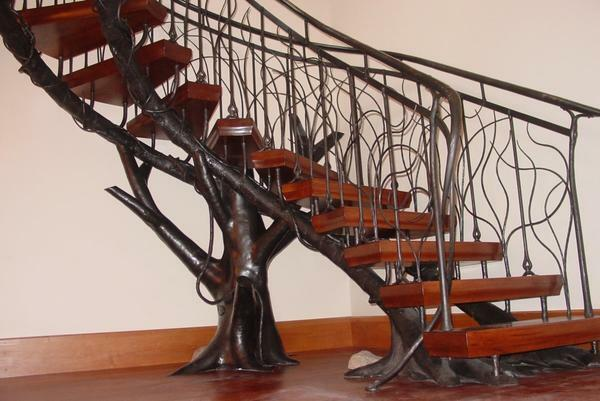 Forged stairs: photo forging, elements on the second floor, metal and artistic, making steps