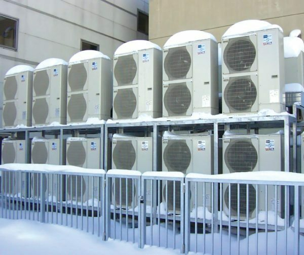 In Crimea, with its warm climate, inverter air conditioner is used for heating of stores and shopping malls.