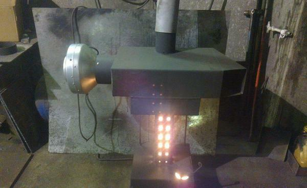 For the manufacture of a stove for working, a thick metal