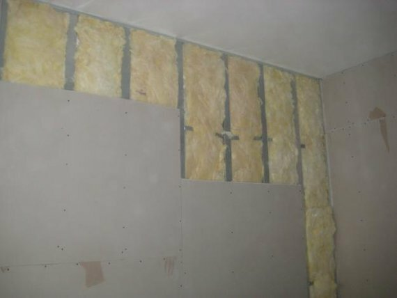 Apparatus mineral wool soundproofing