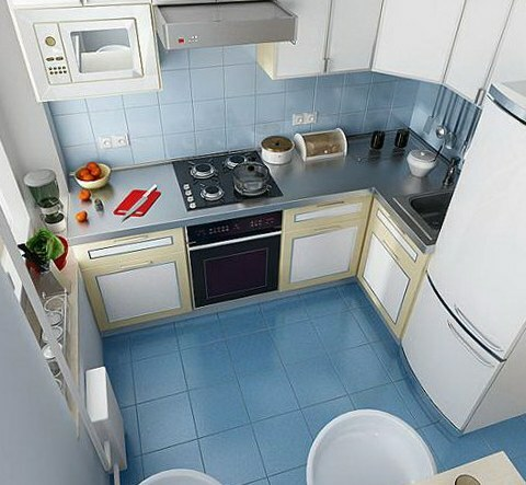 kitchen of 9 meters Design