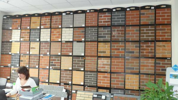 In stores there are many different tones of wallpaper for brickwork